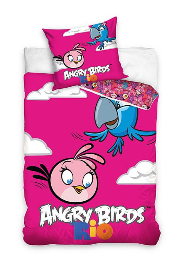 Povlečení Angry Birds Rio Stella a Perla 140/200 70/80