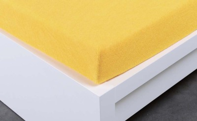 Jersey prostěradlo Exclusive dvojlůžko - žlutá 200x220 cm