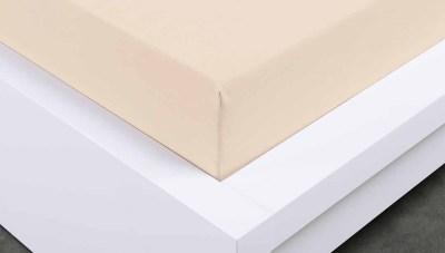 Jersey prostěradlo Exclusive dvojlůžko - bílá káva 200x220 cm