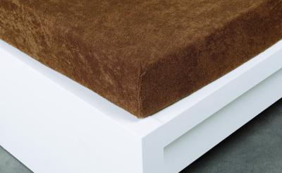 Jersey prostěradlo Exclusive dvojlůžko -  hnědá 180x200 cm