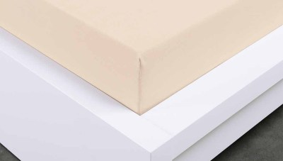 Jersey prostěradlo Exclusive dvojlůžko - bílá káva 180x200 cm