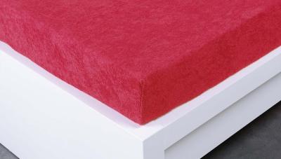 Jersey prostěradlo Exclusive dvojlůžko -  malinová 180x200 cm