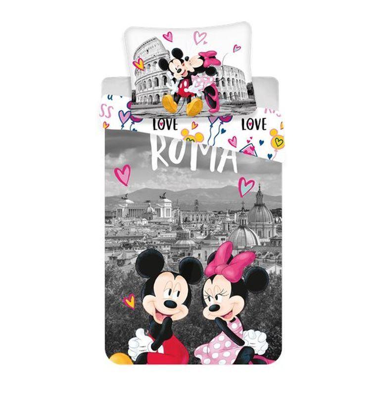 Povlečení Mickey a Minnie v Římě 140/200, 70/90