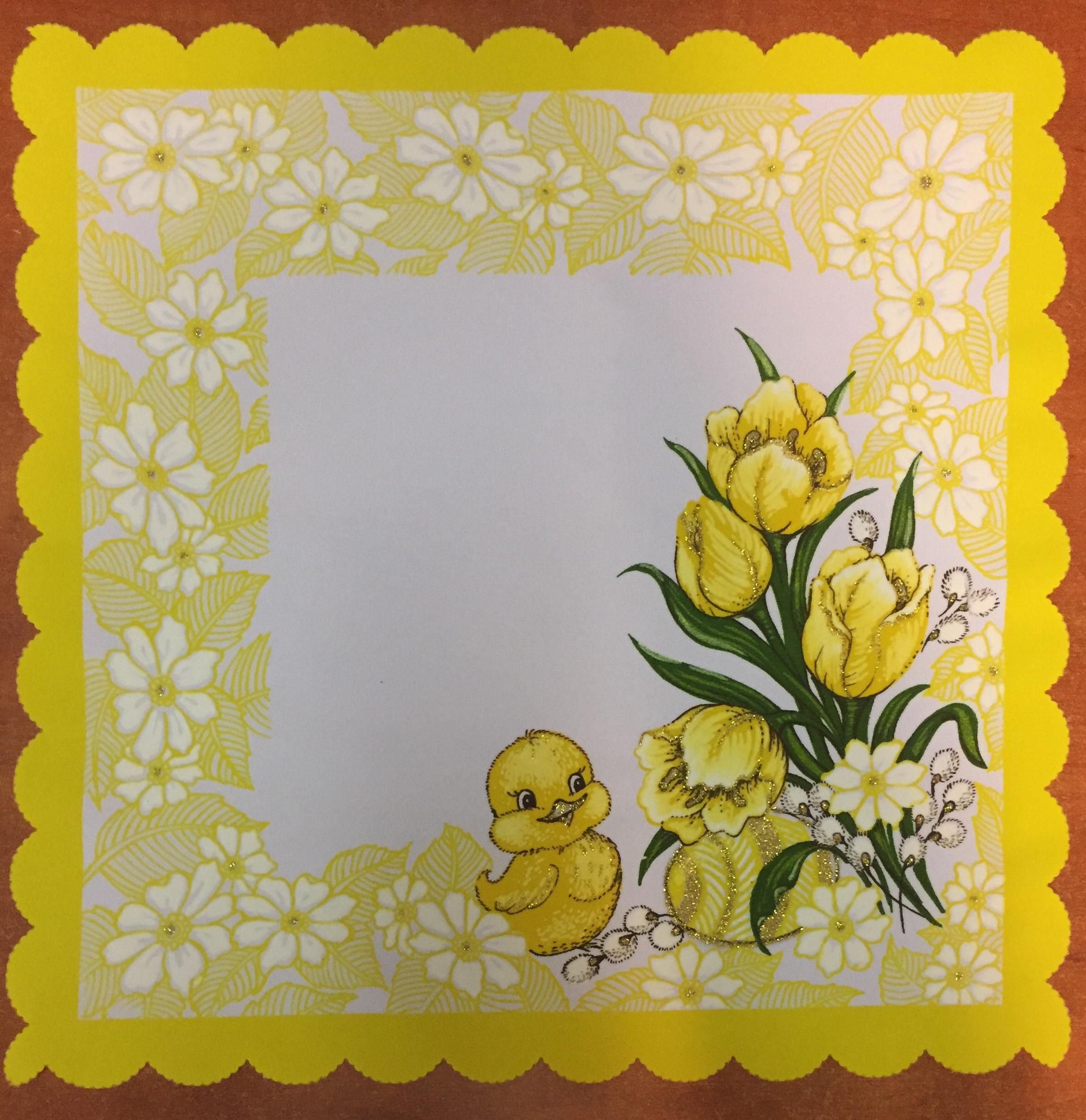 Velikonoční prostírání  35x35cm kačenka žlutá