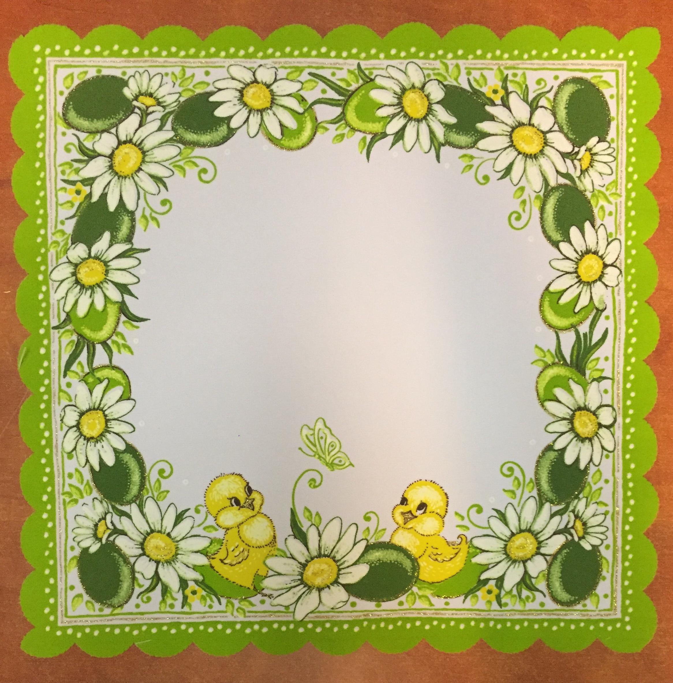 Velikonoční prostírání  35x35cm kačenky zelené