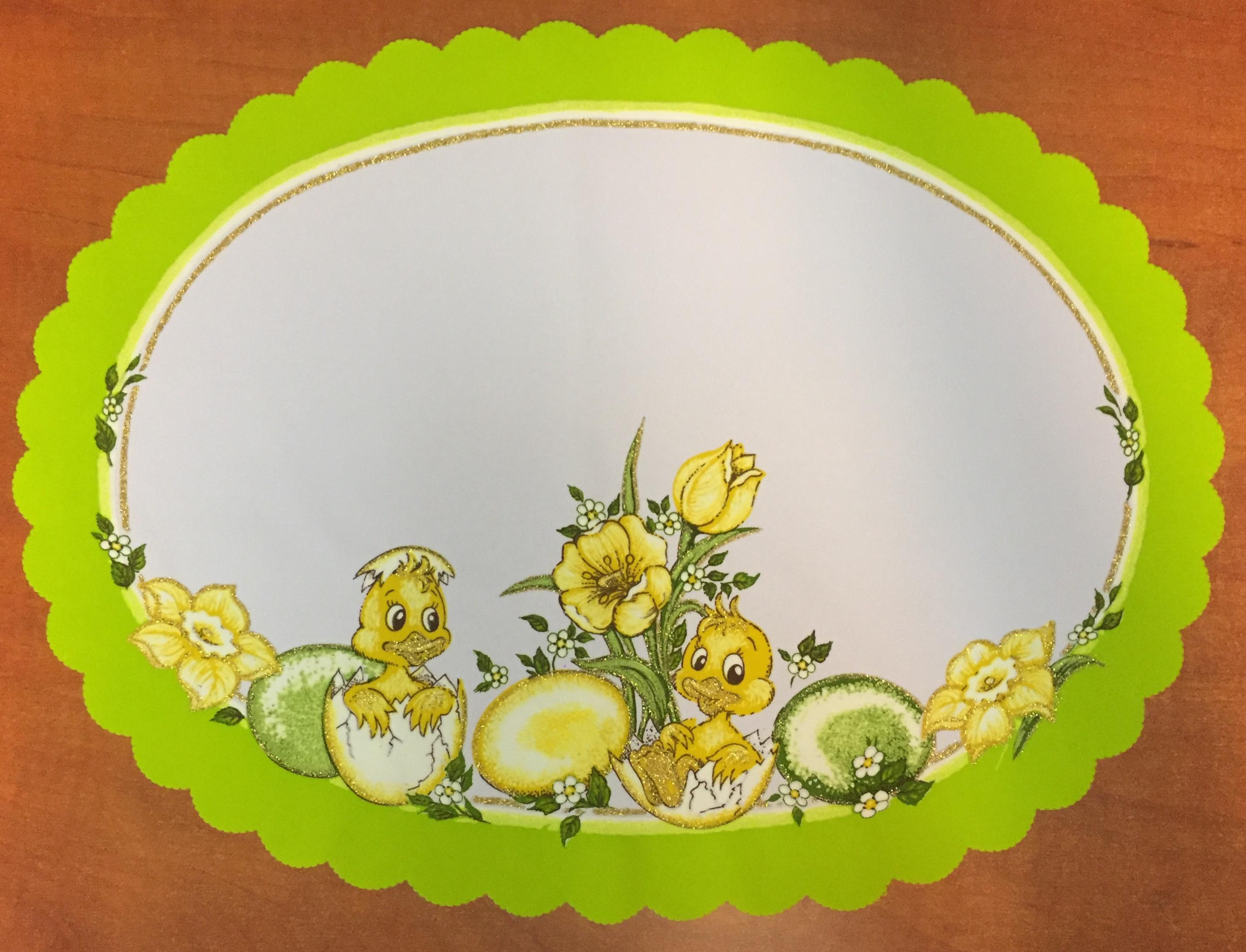 Velikonoční prostírání  35x50 cm zelené kachňátka