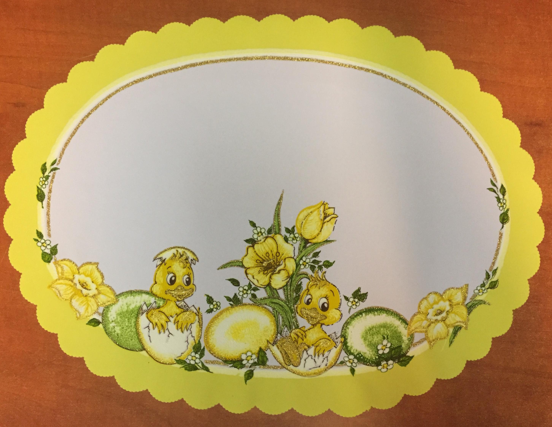 Velikonoční prostírání  35x50 cm žluté kachňátka