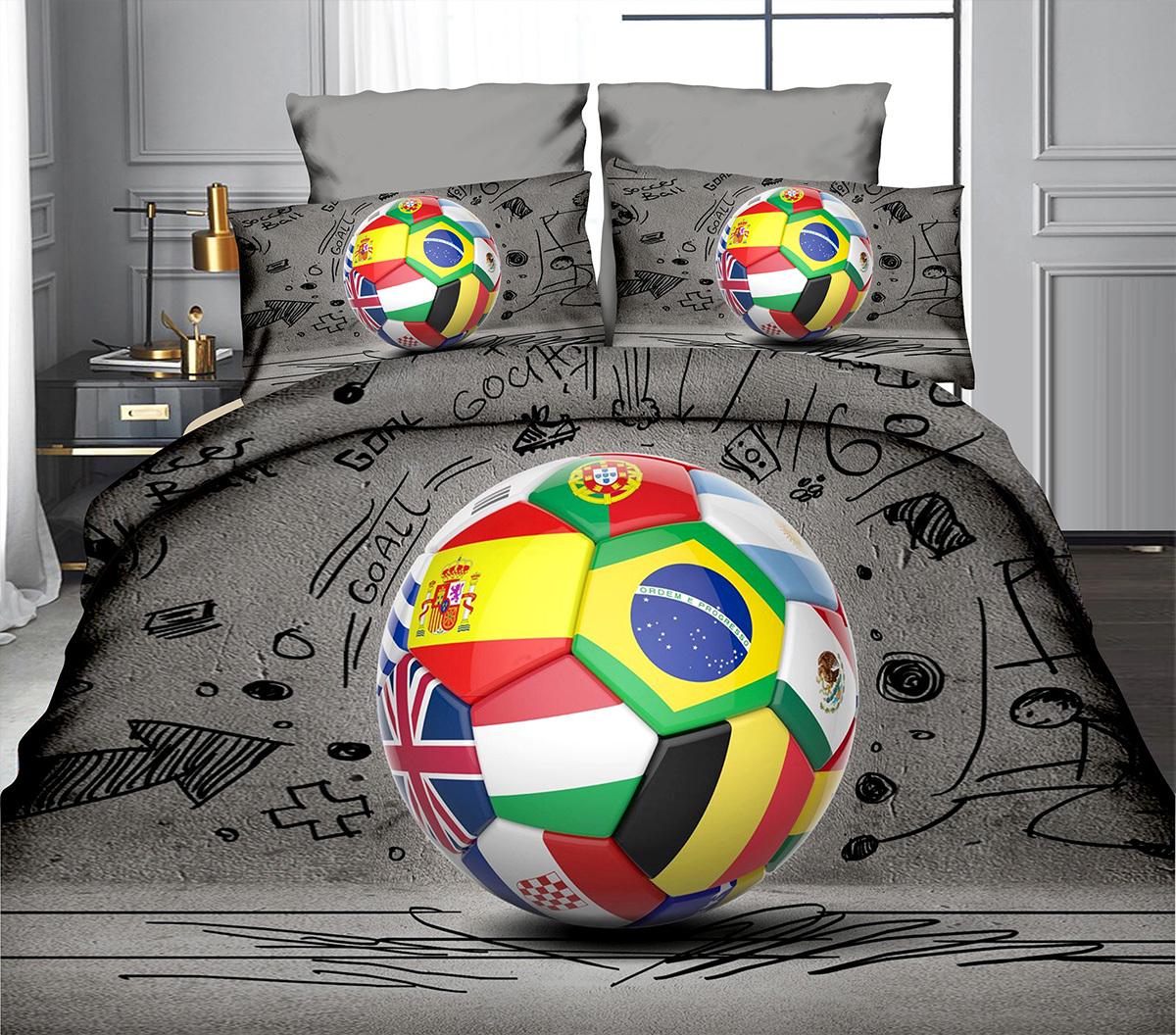 POVLEČENÍ S 3D EFEKTEM 140x200/70x90cm - FOTBAL FIFA