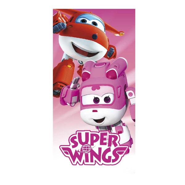 Osuška Super Wings pink 70/140cm