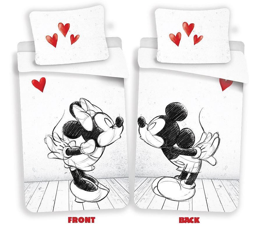 Povlečení Mickey a Minnie láska 02 140/200, 70/90