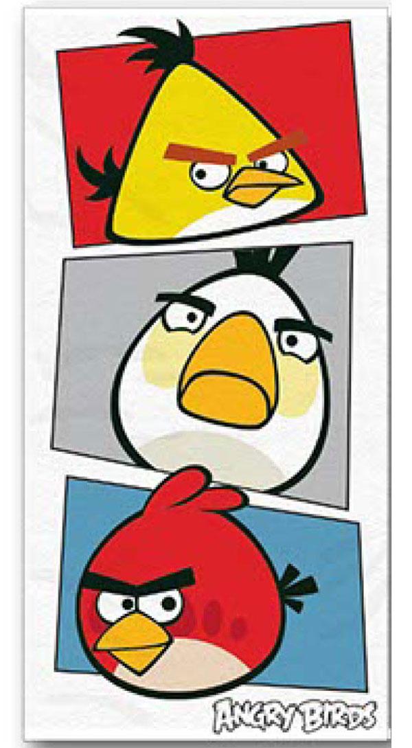 Osuška Angry Birds bílá 70/140cm