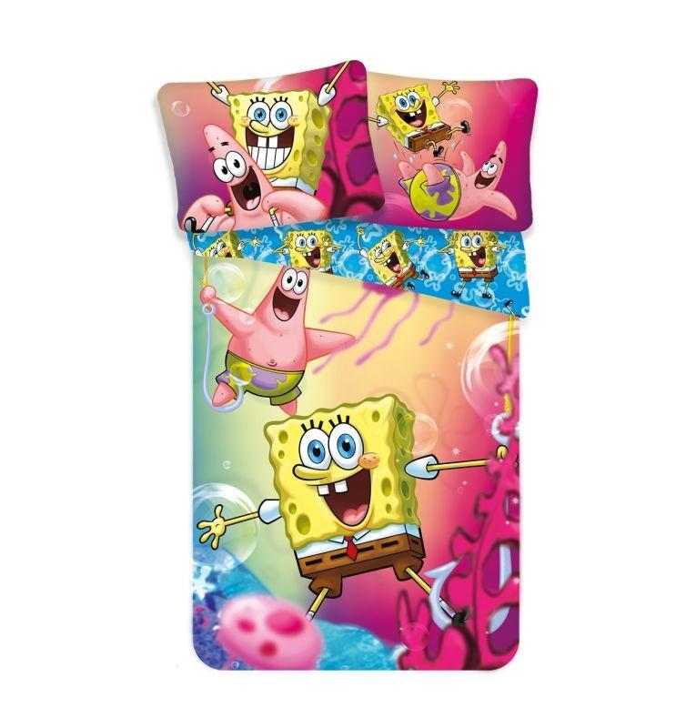 Povlečení Sponge Bob 140/200, 70/90cm
