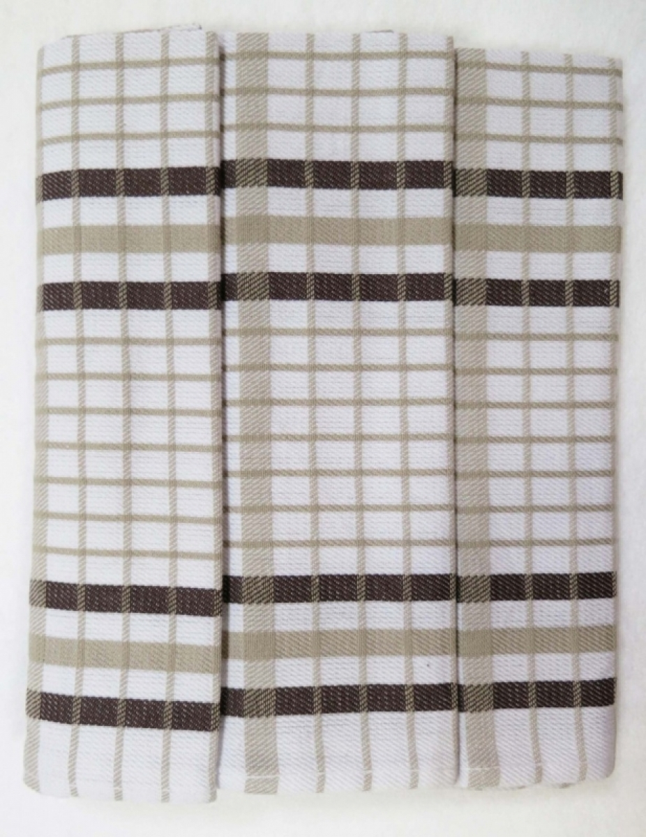 Utěrky kuchyňské z Egyptské bavlny 50x70 cm -  sada 3 ks  č.24