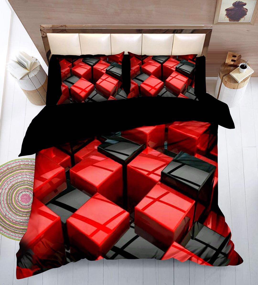Krepové povlečení sada na 2 postele - AMPHAN + prostěradlo ZDARMA