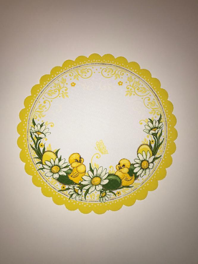Velikonoční prostírání  35cm kačenky žluté