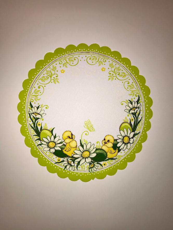 Velikonoční prostírání  35cm kačenky zelené