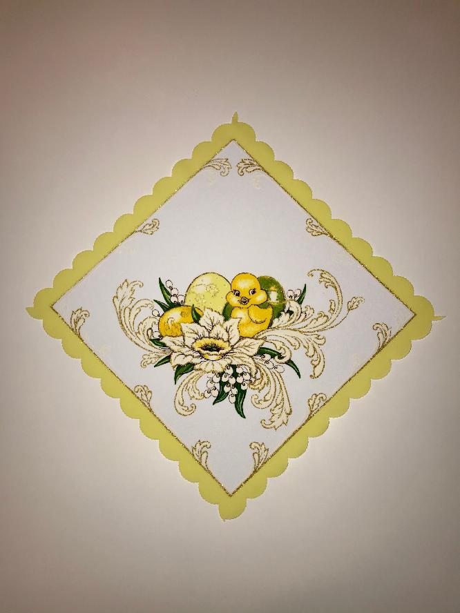 Velikonoční prostírání  35x35 cm kačenka žlutá