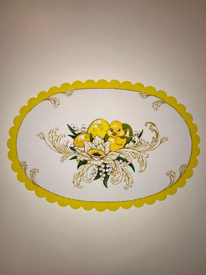 Velikonoční prostírání  32x48 cm kačenka žlutá