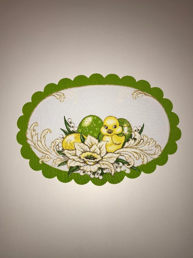 Velikonoční prostírání  32x48 cm kačenka zelená