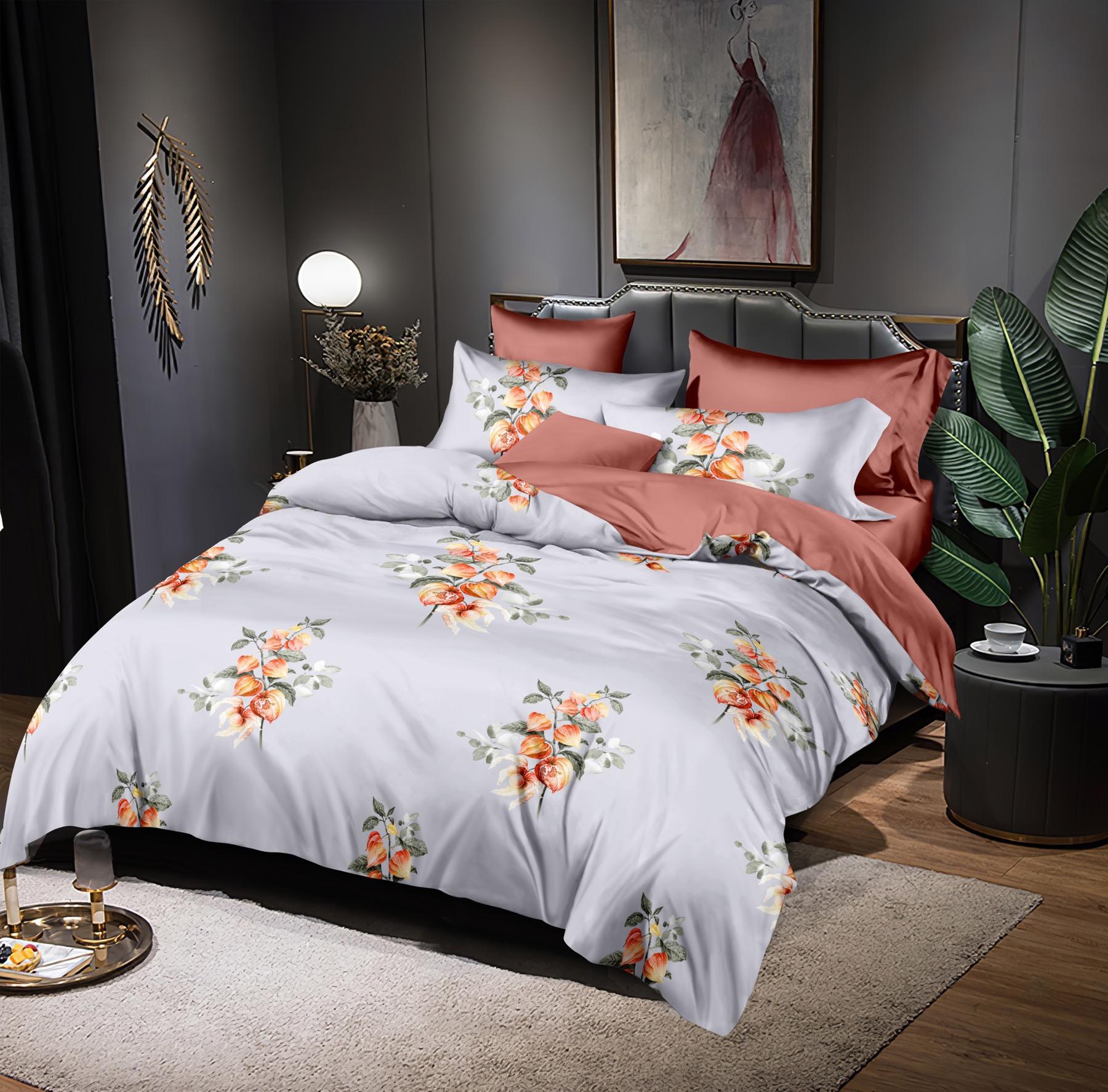 Luxusní Bavlněné povlečení na 2 postele 140x200/ 70x90 - MÁJA + prostěradlo ZDARMA