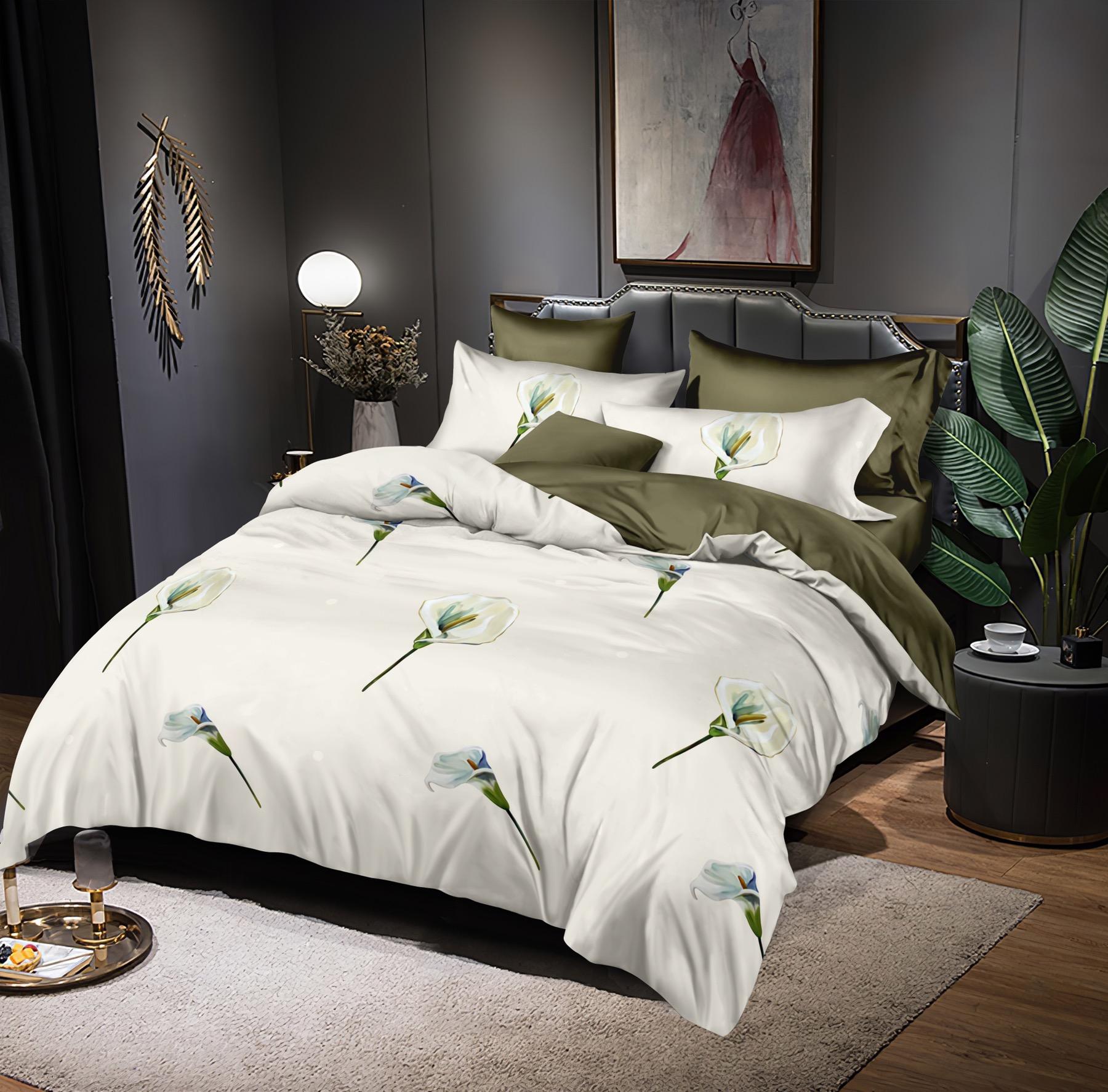 Luxusní Bavlněné povlečení na 2 postele 140x200/ 70x90 -  KALA II.+ prostěradlo ZDARMA