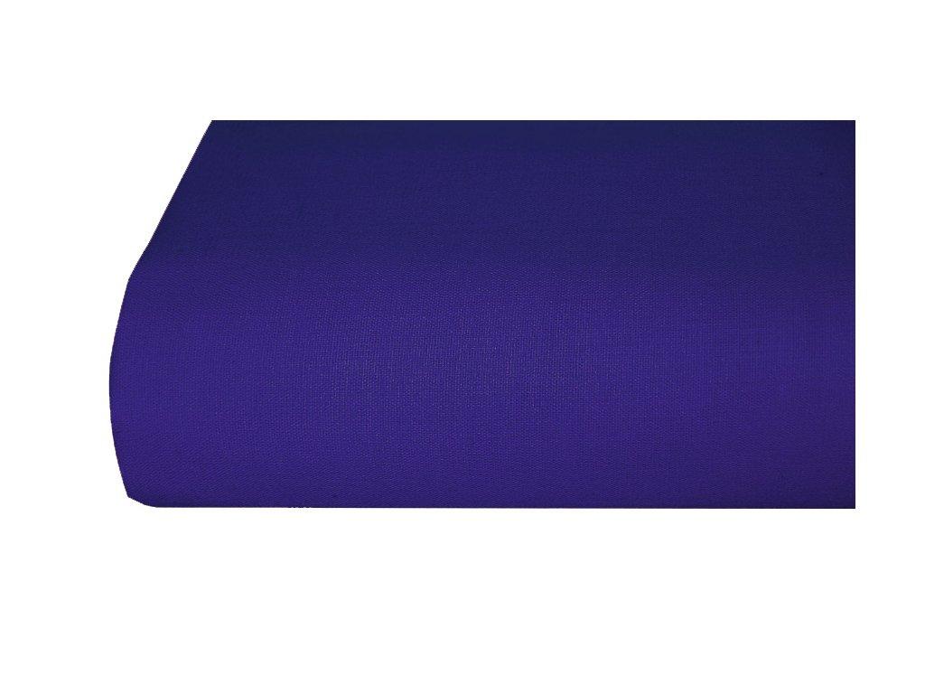 Bavlněná plachta, prostěradlo 140x225 cm TMAVĚ MODRÉ