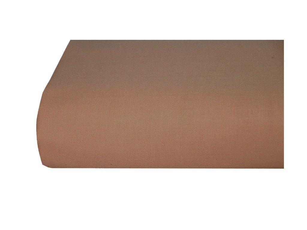 Bavlněná plachta, prostěradlo 140x225 cm HNĚDÉ