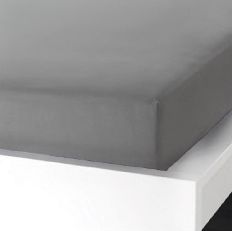 Napínací  prostěradlo na jednolůžko - 90x200 cm - ŠEDÉ