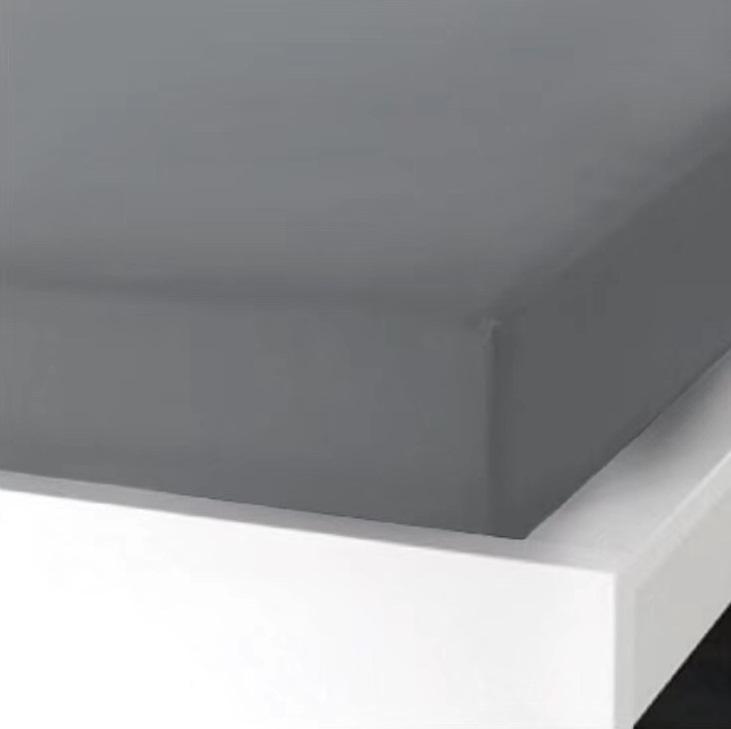 Napínací  prostěradlo na jednolůžko - 90x200 cm - TMAVĚ ŠEDÉ