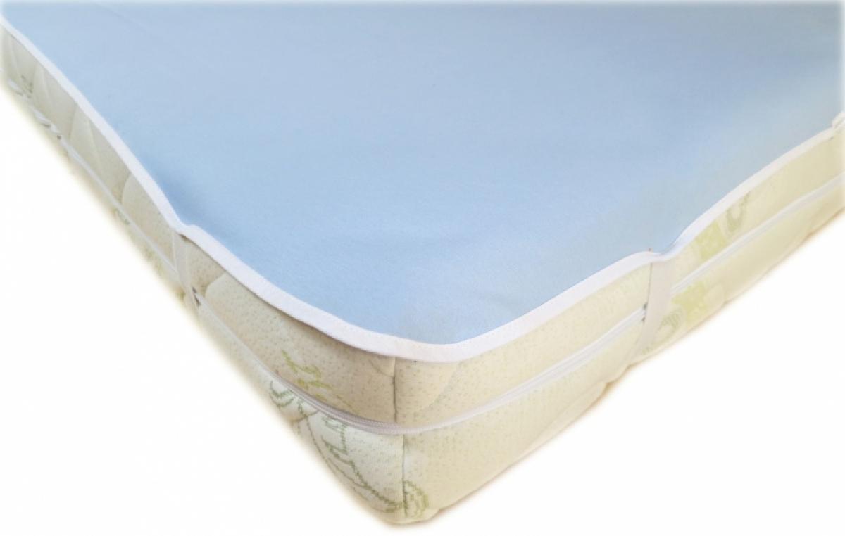 Nepropustný  prošívaný chránič matrace 90x120 cm - JERSEY MODRÝ