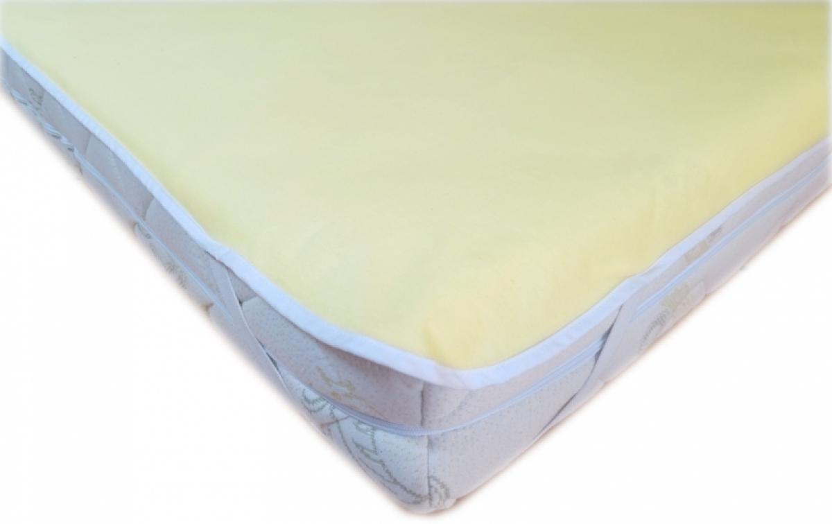 Nepropustný  prošívaný chránič matrace 180x120 cm - JERSEY ŽLUTÝ