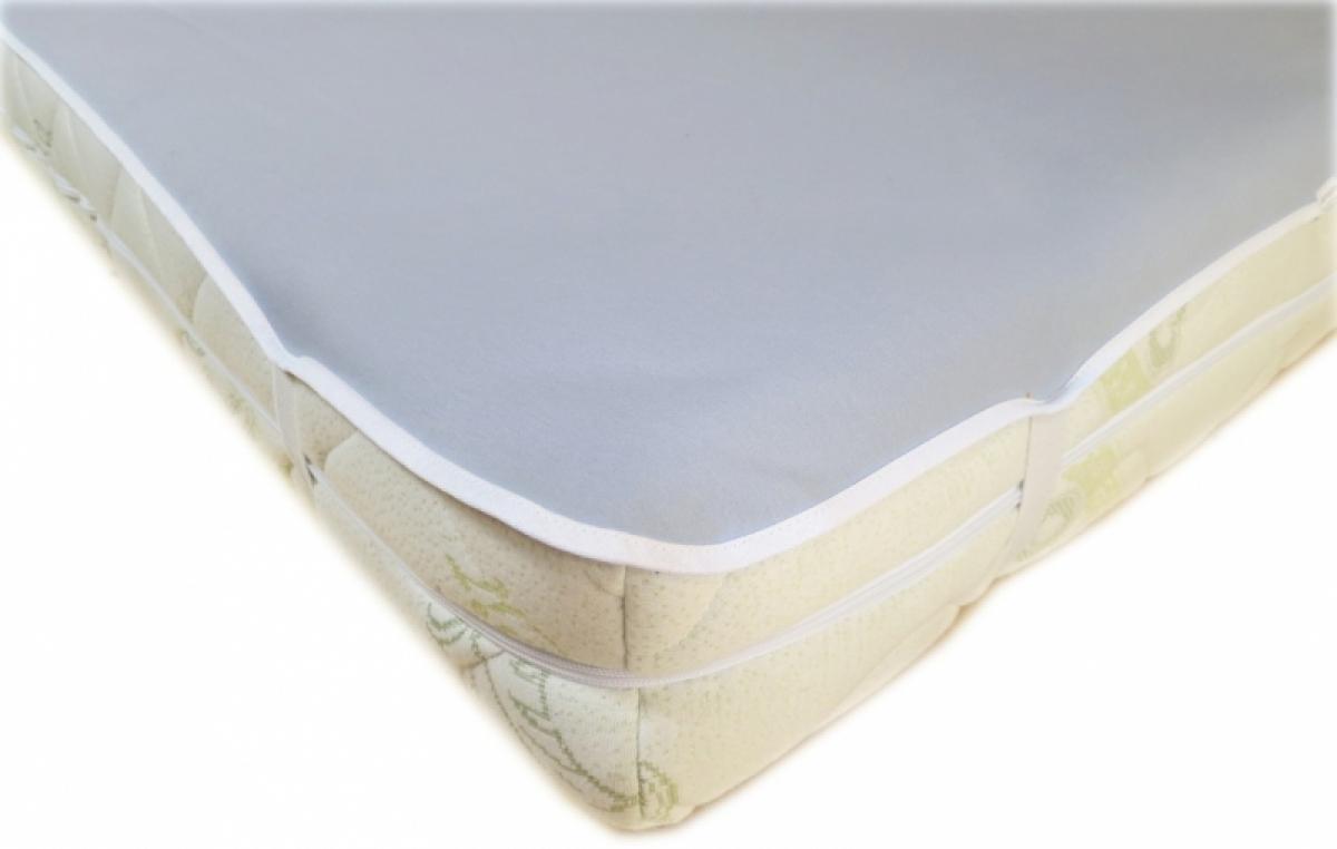 Nepropustný  prošívaný chránič matrace 160x120 cm - JERSEY ŠEDÝ