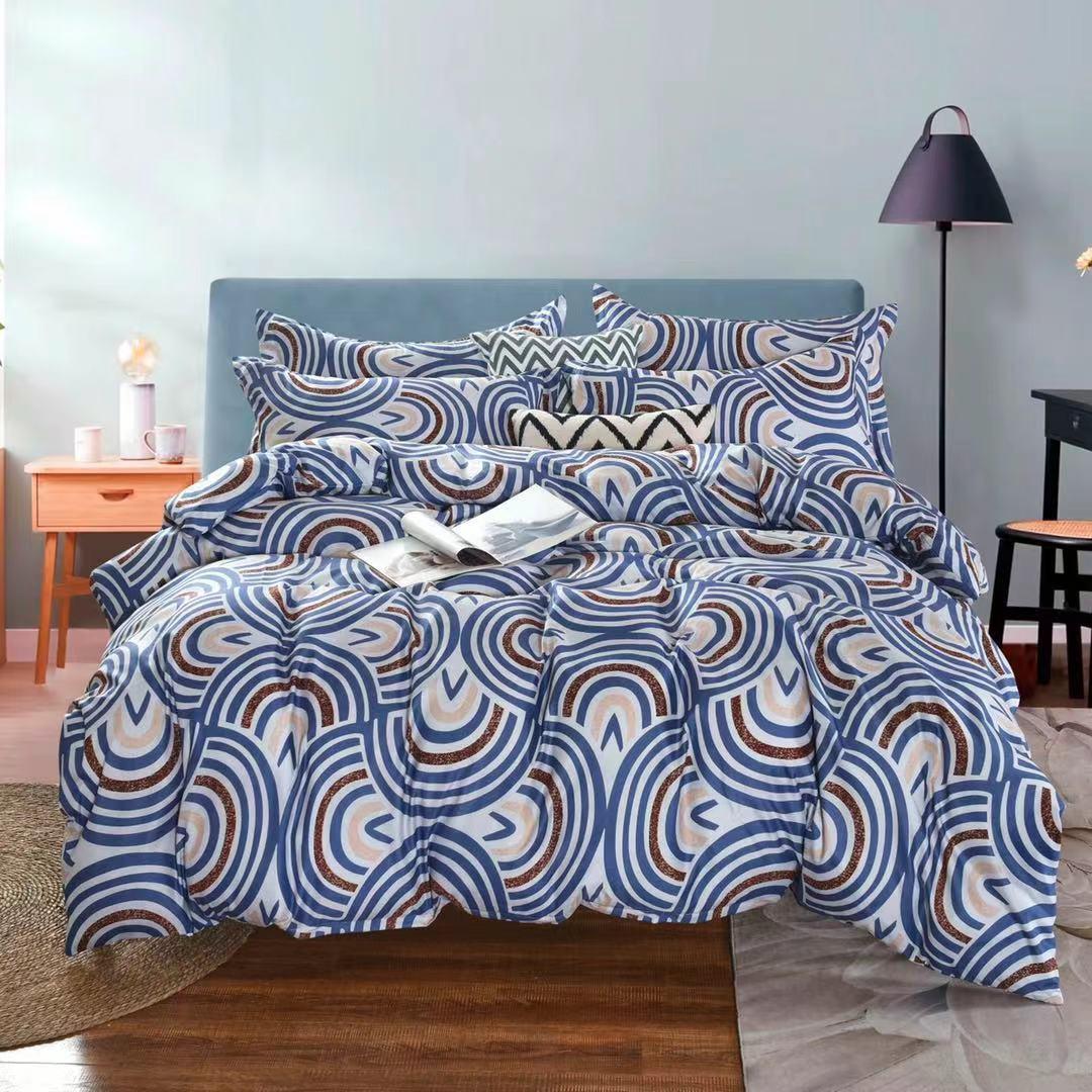 Luxusní Bavlněné povlečení na 2 postele 140x200/ 70x90 -  GEORGE  + prostěradlo ZDARMA