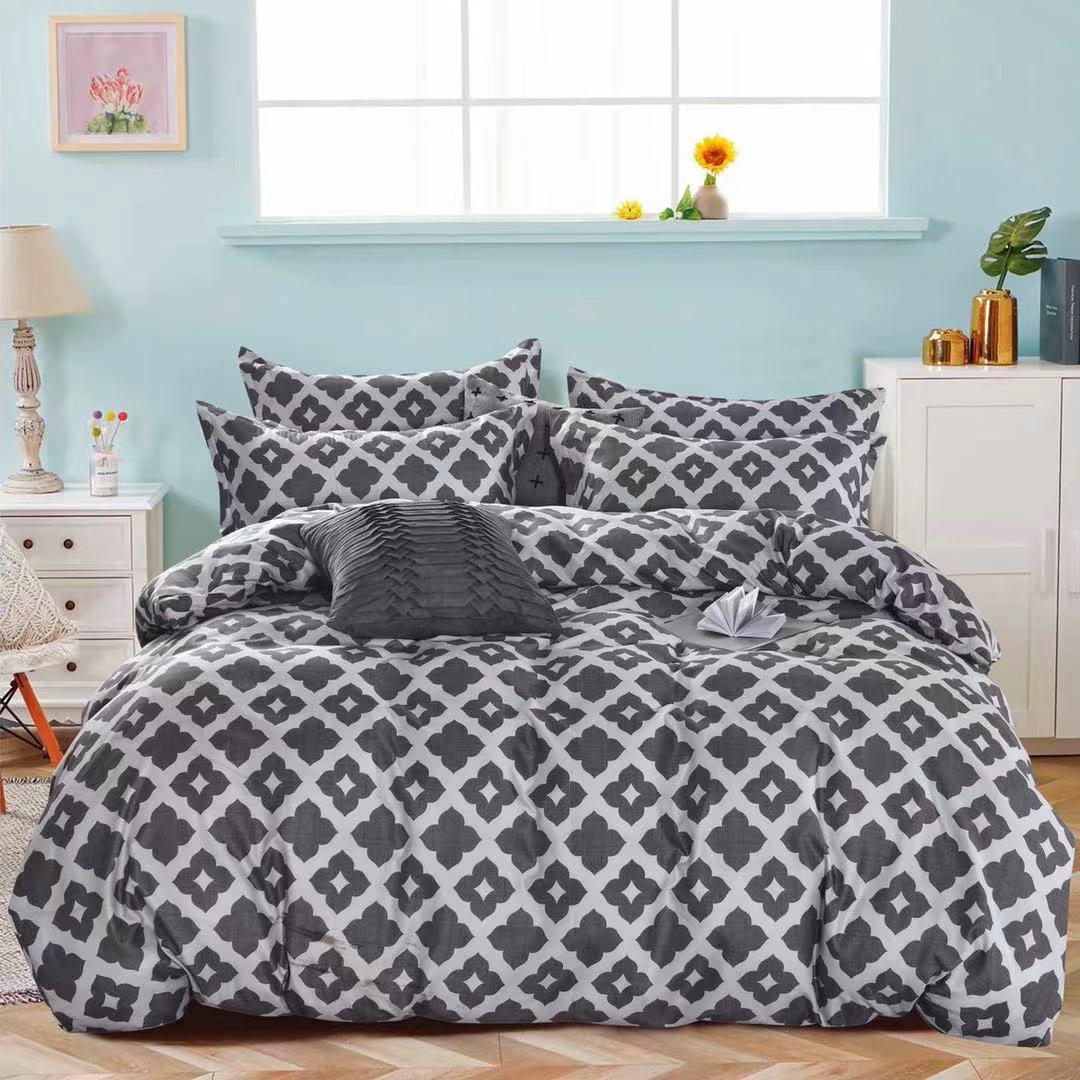 Luxusní Bavlněné povlečení na 2 postele 140x200/ 70x90 - GIORGIO  + prostěradlo ZDARMA