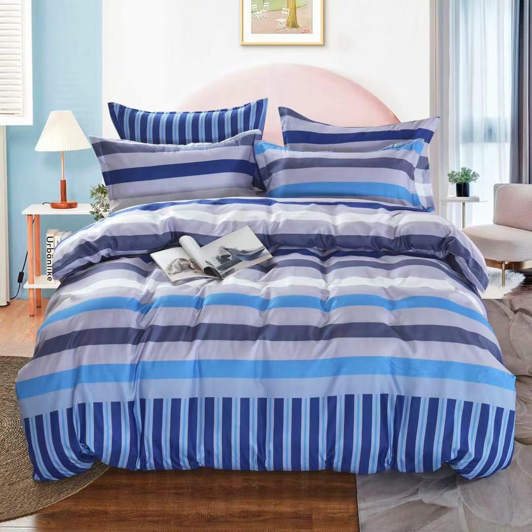 Luxusní Bavlněné povlečení na 2 postele 140x200/ 70x90 - HANS + prostěradlo ZDARMA