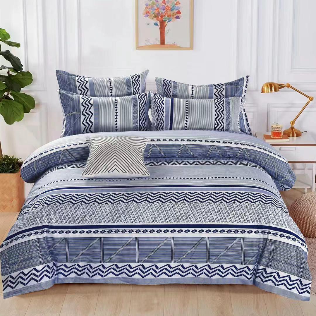 Luxusní Bavlněné povlečení na 2 postele 140x200/ 70x90 - GIOVANNI + prostěradlo ZDARMA