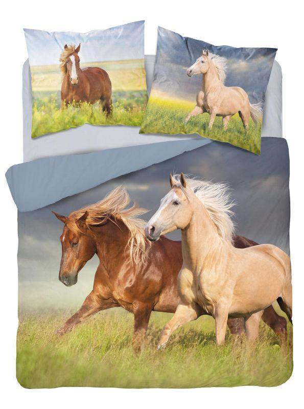 Luxusní 3D povlečení Koně - Francouzské  220x200 cm