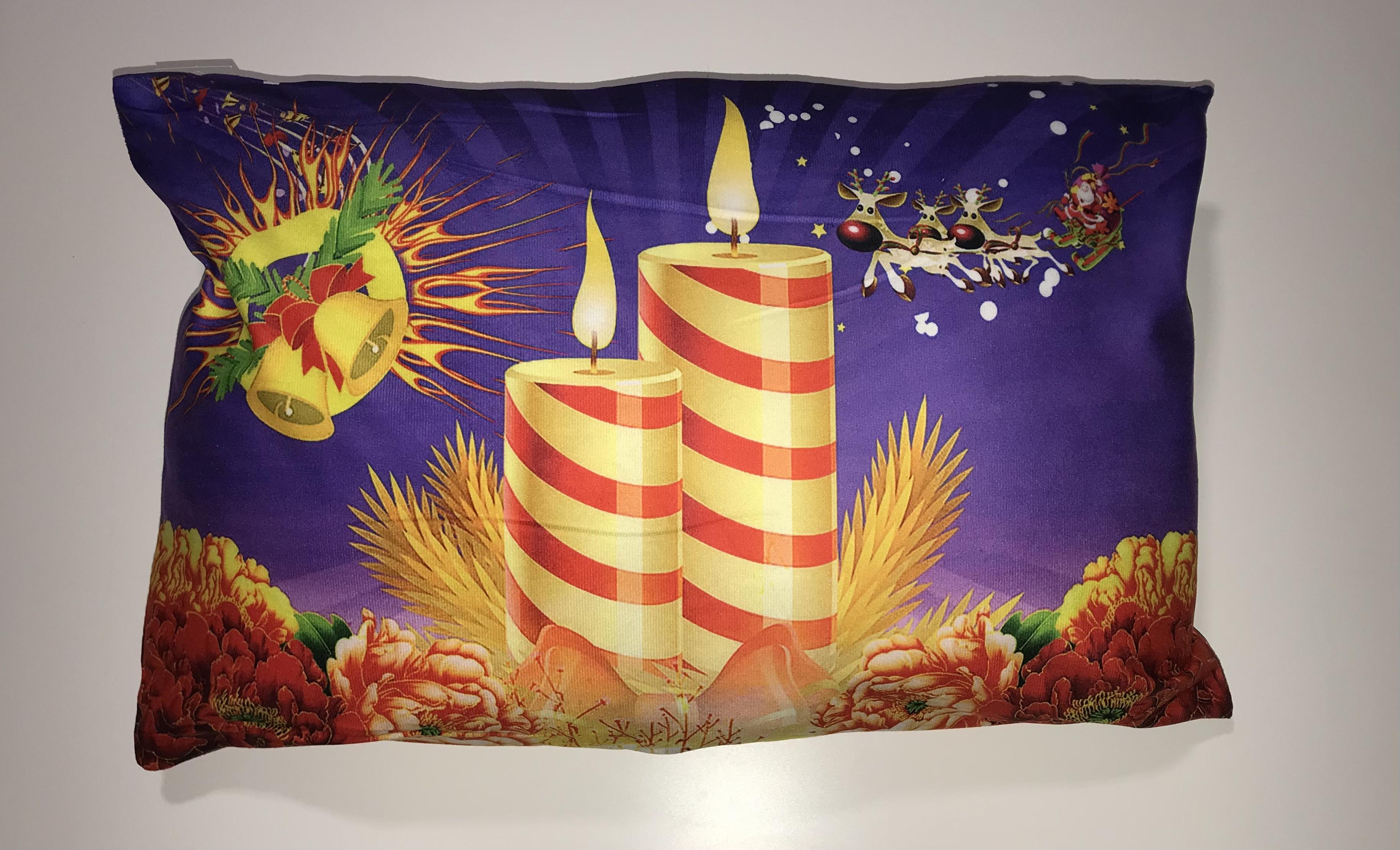 Mikroplyšový  polštářek  40x60 cm - VÁNOCE - CHRISTMAS č.12