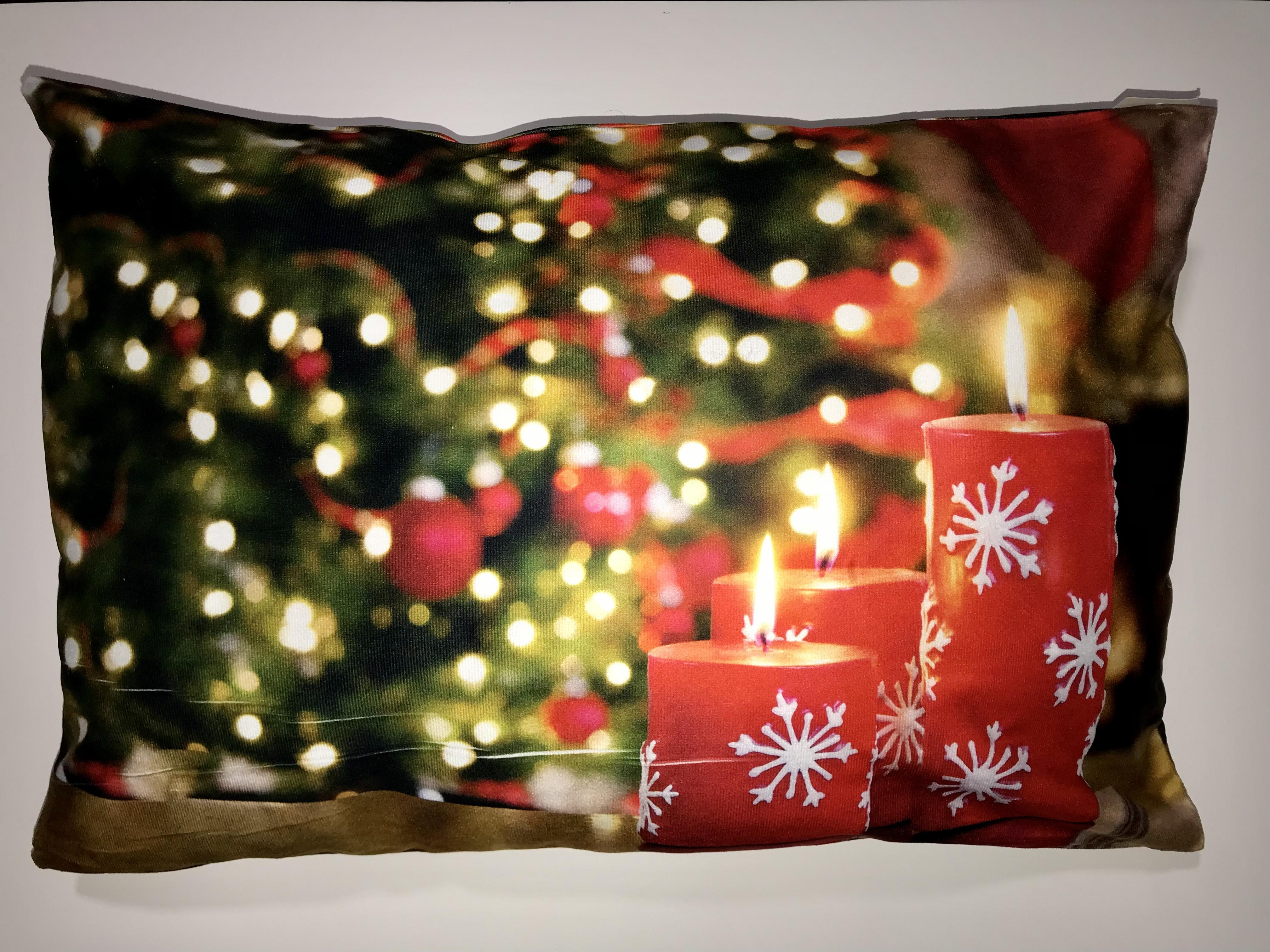 Mikroplyšový  polštářek  40x60 cm - VÁNOCE - CHRISTMAS č.14