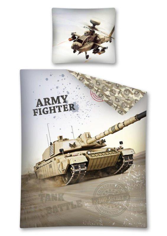 Povlečení Tank Army Fighter 140/200 x 70/80 cm