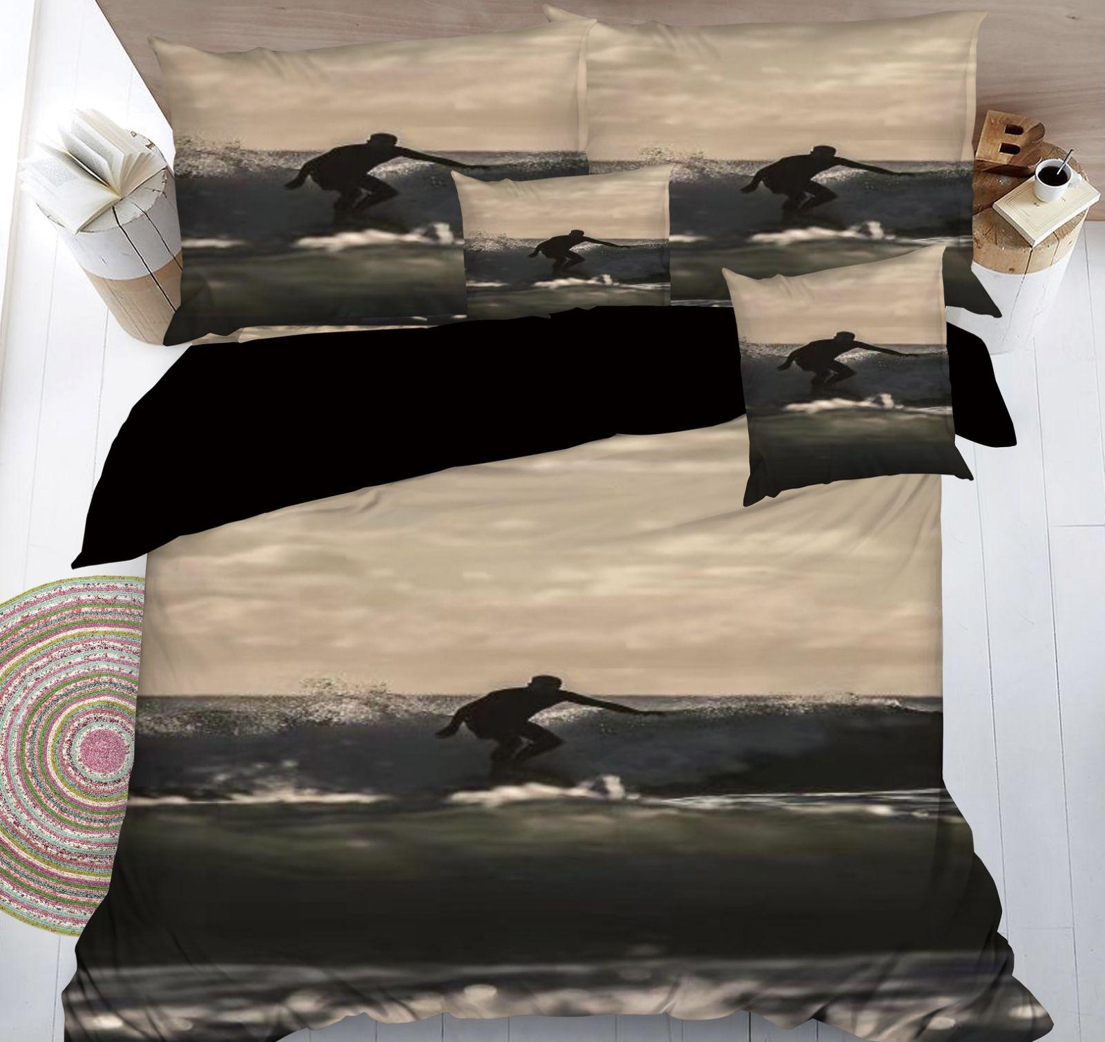 SADA POVLEČENÍ S 3D EFEKTEM SURFAŘ II. na 2 postele + PROSTĚRADLO ZDARMA