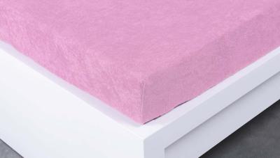 Froté prostěradlo Exclusive dvoulůžko - růžové 200x220 cm