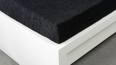 Froté prostěradlo Exclusive dvoulůžko - černé 180x200 cm