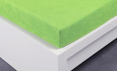 Froté prostěradlo Exclusive dvoulůžko - letní zelená 180x200 cm