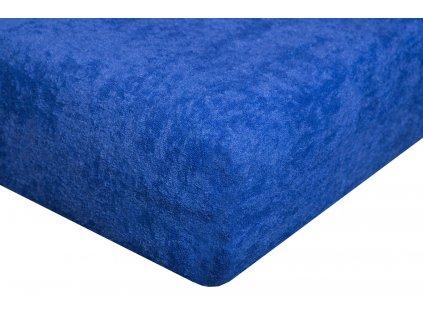 Froté prostěradlo Exclusive dvoulůžko - modré 180x200 cm