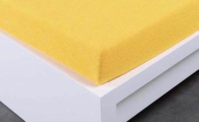 Froté prostěradlo Exclusive dvoulůžko - žluté 200x220 cm