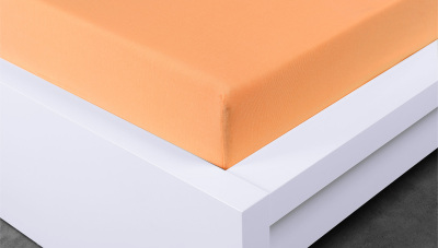 Jersey prostěradlo Exclusive jednolůžko - meruňkové  90x200 cm
