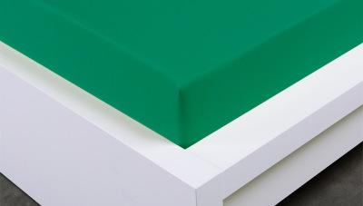 Jersey prostěradlo Exclusive jednolůžko - tmavě zelené 90x200 cm