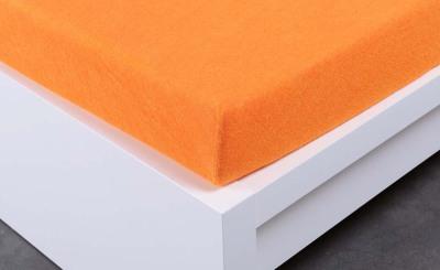 Froté prostěradlo Exclusive dvoulůžko - oranžové 140x200 cm