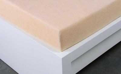 Froté prostěradlo Exclusive dvoulůžko - bílá káva 140x200 cm